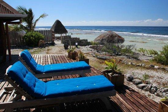 Vahaui Paradis : Aussicht von der Terrasse