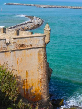 Kasbah des Oudaias: Amazing views of the ocean.
