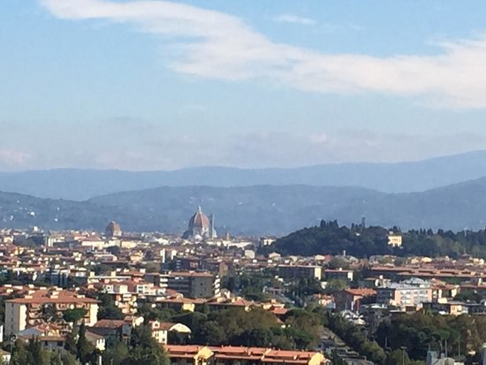 Hilton Florence Metropole : View from executive lounge