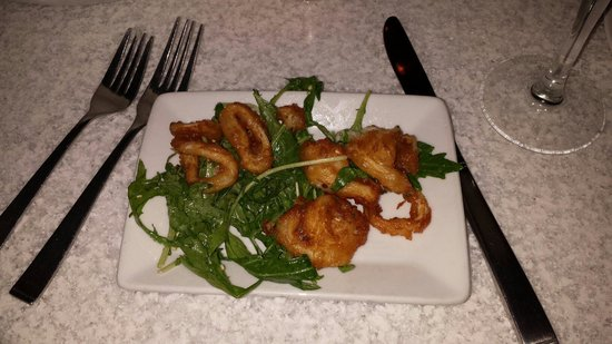 Wildflower : Calamari appetizer... Fed all three adults plus seconds! Some of the freshest, not frozen, tasti