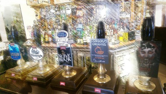 The Old Queen's Head: Great real ale selection