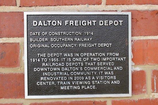 Dalton Freight Depot : Historical Marker