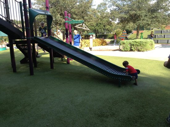 Common Ground Park: Coolest slide that they loved!