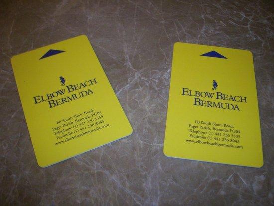 Elbow Beach, Bermuda: Room Keys