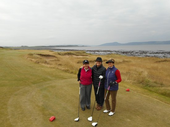 Castle Stuart Golf Links: On the first tee