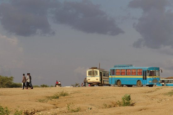 Bus station at Barentu