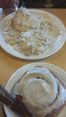 Sweet Life Patisserie: Biscuits and gravy. ....cinnamon roll!
