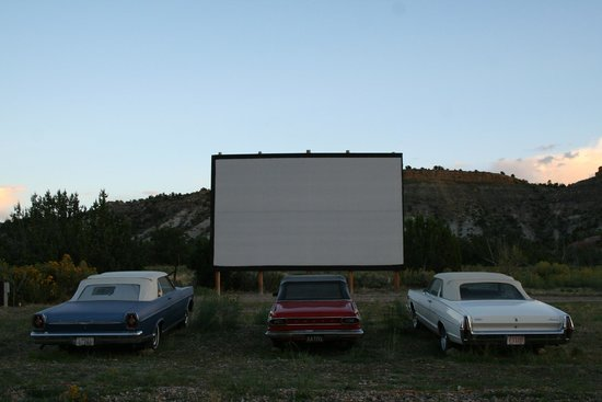 Shooting Star RV Resort: Drive-in movie theater and vintage cars that can be rented to view the movie from