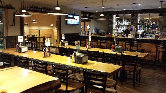 Black Mtn. Burger Co.: The main attraction is our rustic stone bar with plenty of seating
