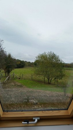 Church Stoke, UK: Morning view from bedroom ty camlad