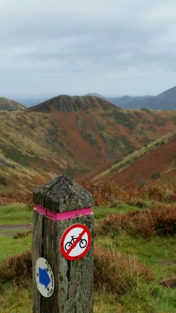 Church Stoke, UK: Views from the long mynd carding mill valley about 20 mins from ty camlad