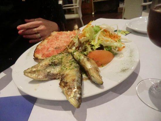 Es Congre: sardine a la plancha