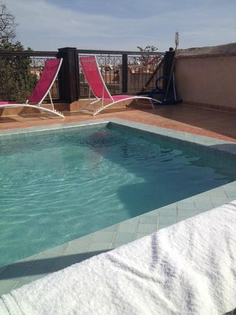 Riad BB Marrakech: Rooftop pool :)