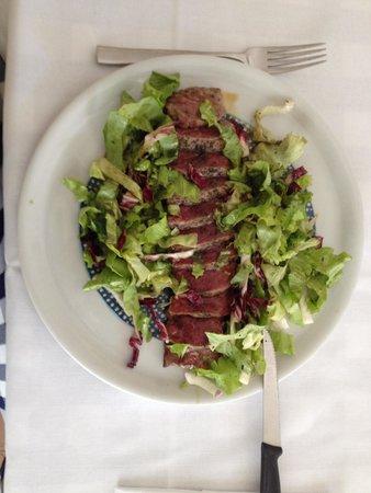 Osteria Nonnanna: Tagliata di vitellone con insalatina bio