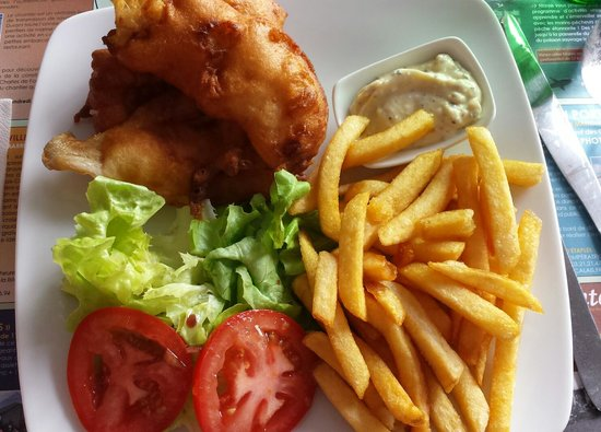 Fish & chips at Sofish, Etaples