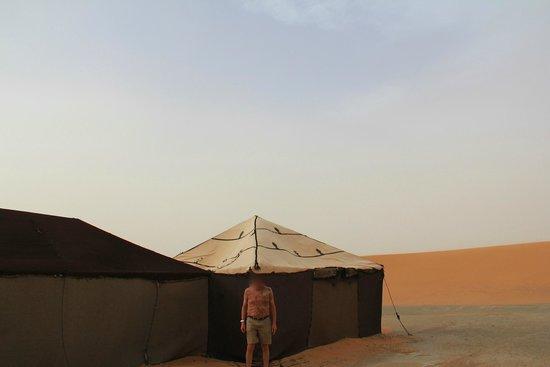 Bivouacs La Belle Etoile: Outside of the tent