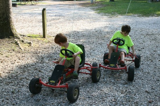 Williamsburg KOA Campground: Go Karts Banana Bikes