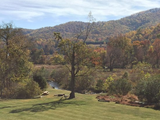 Bold Rock Hard Cider: View from back deck