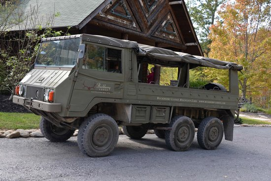 Haflinger Military Vehicle For Sale >> Swiss Army Pinzgauer vehicle for transportation to and from the Creekside Pavilion - Picture of ...