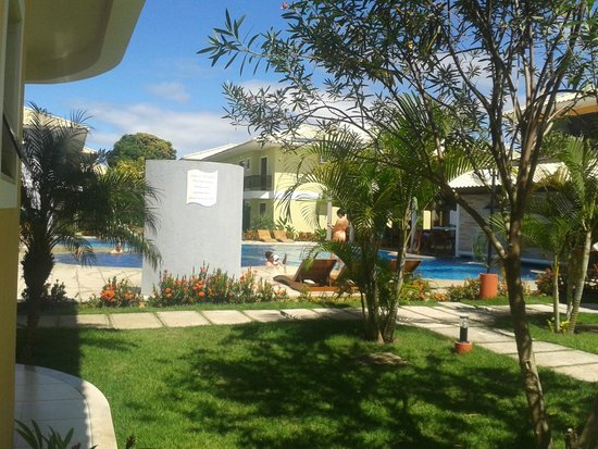 Hotel Aquaville : Vista do Apartamento - Porta do lado de fora(andar Térreo)