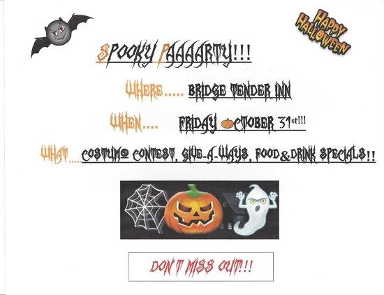 Bridge Tender Inn: HALLOWEEN PARTY!!