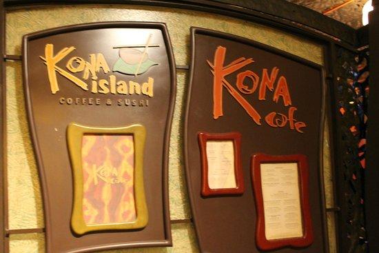 Kona Cafe : Signage