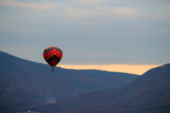 Valley Ballooning: Taken from Hot Air Balloon of another balloon