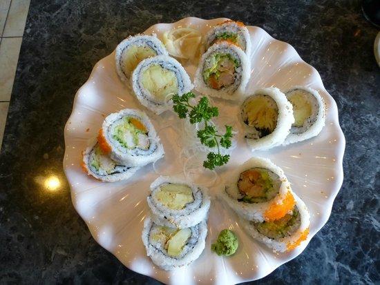 Kiku Sushi: Yam Tempura and Dynamite rolls
