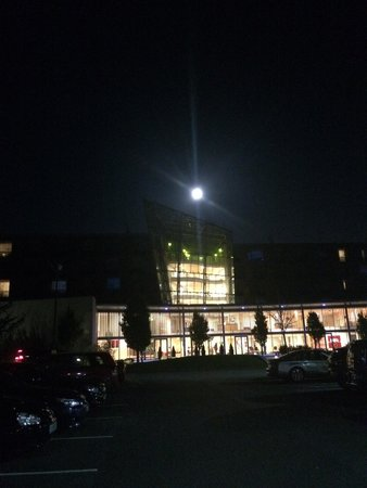 Pillo Hotel Ashbourne: Shortly after our arrival that evening, we discovered the full moon perched directly over the Pi