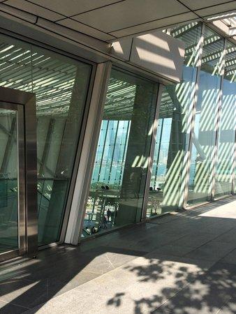 IFC mall: Área de restaurantes ao lado de fora