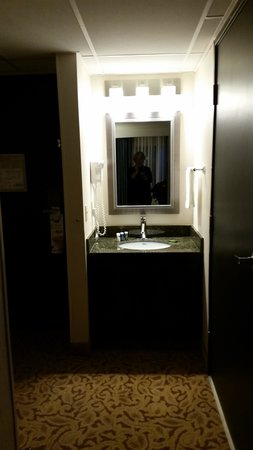 Radisson Ontario Airport: Small vanity area
