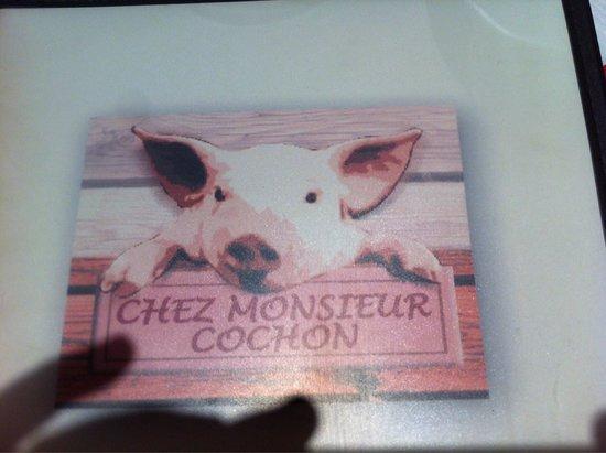 Chez Monsieur Cochon : Carte