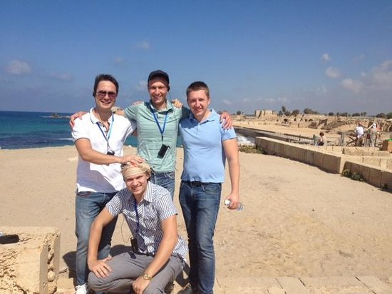 Theatre at Caesarea National Park: Мы с коллегами