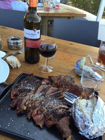 La Plancha D'Ilbarritz: Une côte de bœuf exellente !!!