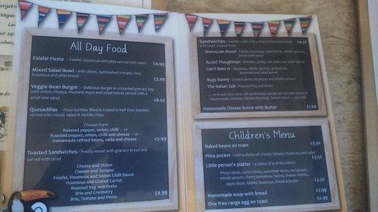 The Toucan Cafe: menu