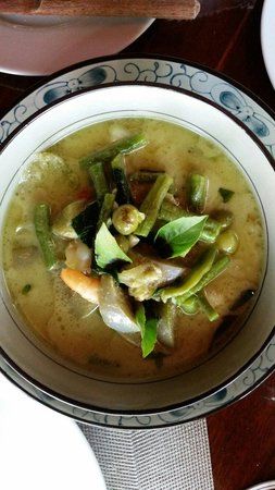 Blue Lagoon Restaurant: Green curry