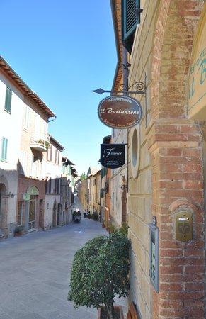 Il Barlanzone and street to village center