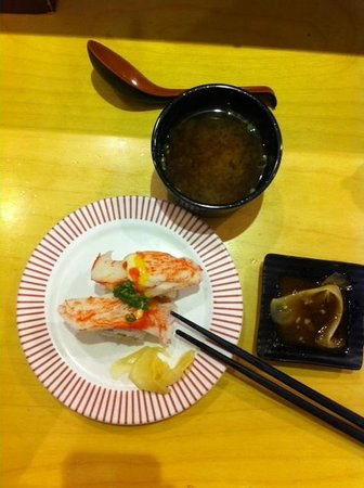 Food Court at Lotte Department Store Main : Sushi dinner