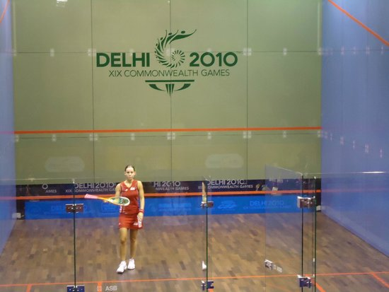 A player in the squash court picture of dda siri fort for Dda new project in delhi