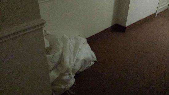 Il Principe Hotel: i sacchi della biancheria sporca davanti alla mia porta per un giorno li depositati