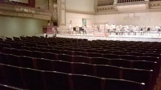 Boston Symphony Orchestra : The auditorium