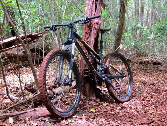 Krank Cycles: Bike on trail