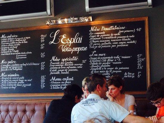 Grand Bar des Goudes: Carte