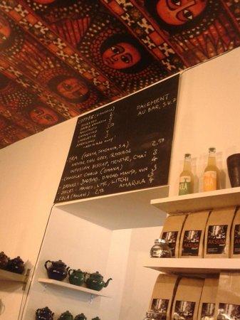 Aksum Coffee House : menu