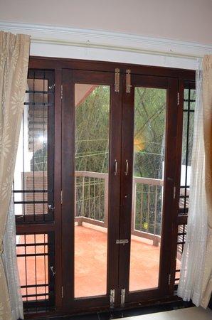 Grand Thekkady: Metalwork on windows to stop monkeys getting in