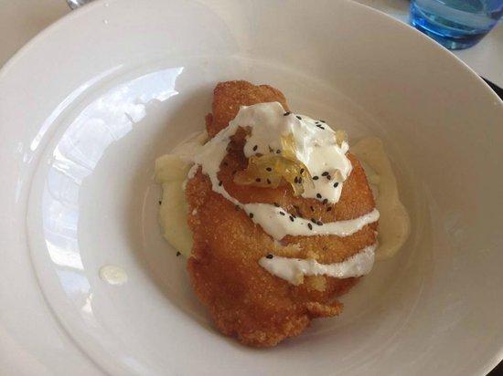 Restaurante Arqua : Pechuga con cebolla carameliza y pure