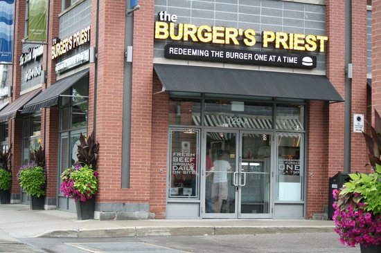 Photo of American Restaurant The Burger's Priest at 129 Lakeshore Rd E, Mississauga L5G 1E5, Canada