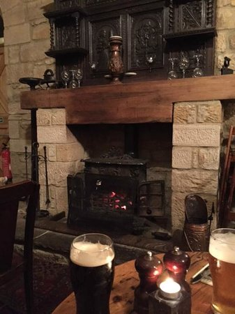 Stables Pub & Brewery: The beautiful fireplace