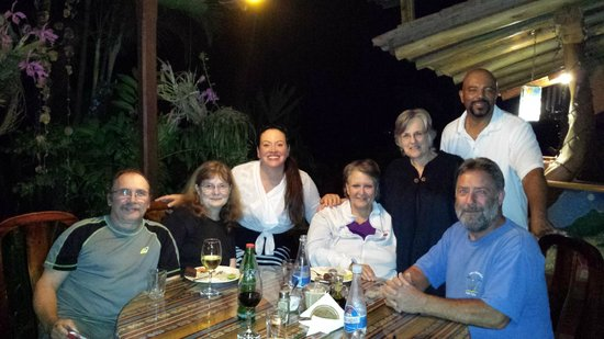 Madre Tierra Resort & Spa: Sharing dinner with other hotel guess, joined by owner Gayle