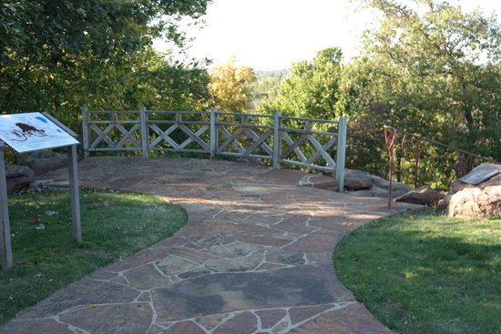 Gilcrease Museum: The Terrace That Overlooks The Park And Pond